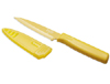 Kuhn Rikon Nonstick Serrated Paring Knife, Yellow