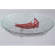 Gourmet Display LJ12 Glass Bowl w/Copper River Salmon Inlays 12""