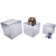 "Gourmet Display Acrylic Mirror Cubes 8"" 10"" 12"" (3-Piece Set)"