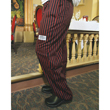 Chef Revival E-Z Fit Chef Pants Cotton, Red/Black Pinstripe