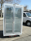 Leader 2 Door Freezer Remote Model PF48RM Used Very Good Condition
