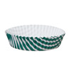 Welcome Home Brands Dark Green Stripe Ruffled Mini Paper Baking Pan