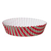 Welcome Home Brands Diagonal Stripes Ruffled Min Paper Baking Pan