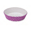 Welcome Home Brands Polka Dot Purple Ruffled Paper Baking Pan