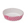 Welcome Home Brands Stripe Pink Ruffled Paper Baking Pan