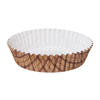 Welcome Home Brands Lattice Tan Ruffled Mini Paper Baking Pan