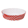 Welcome Home Brands Tangerine Stripe Ruffled Mini Paper Baking Pan