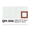 Silicone Chocolate Sheet, Square 50x50mm, 8 Cavities