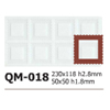 Silicone Chocolate Sheet, Square 49x49mm, 8 Cavities