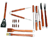 Barbecue Tools, 18-Piece Set, w/ Carrying Case