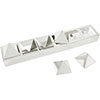 "Fat Daddio's RPYB-3394 Stainless Steel  Pyramid Mold Base, 15.75"" x 3"" x 1-5/8"""
