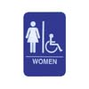 "Sign: Women, Blue with White Imprint, 6"" x 9"""