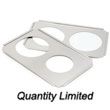 "Crestware Adaptor Plate, Stainless Steel, Two 6-1/2"" Holes"