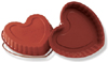 "Silicone Baking Mold: Heart 42 Oz,  8.66"" x 8.58"" x 1.18"" High"