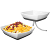 Gourmet Display Square Melamine Bowl Set w/Metal Stand