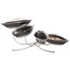 Gourmet Display Medium Melamine Canoe Bowl Tier w/Metal Stand