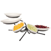 Gourmet Display 5 Small Melamine Canoe Bowl Tier