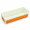 Welcome Home Brands Disposable Polka Dot Orange Loaf Paper Baking Pan