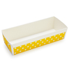 Welcome Home Brands Disposable Polka Dot Yellow Loaf Paper Baking Pan