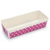 Welcome Home Brands Disposable Polka Dot Purple Loaf Paper Baking Pan