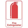 "Sign: Fire Extinguisher, 6"" x 9"""