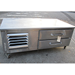 Leader 5' Refrigerated Chef Base Grill Equipment Stand Model LB60ES Used Very Good Condition