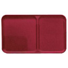 "Cambro Unitray 2-Section Camtray 10.5"" x 19.5"" Cherry Red, Case of 20"
