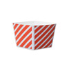 Welcome Home Brands Tangerine Stripe Cube Disposable Paper Baking Cup