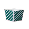 Welcome Home Brands Dark Green Stripe Cube Disposable Paper Baking Cup