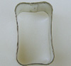 "Cookie Cutter: Wavy Rectangle, 1"" x 1-3/4"" x 1-1/8"" High"