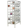 Channel CSR-156M Full Size Mobile Front Loading First In, First Out Aluminum Can Rack for (156) #10 Cans