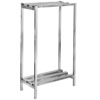 "Channel DR2436-2 36"" x 24"" x 64"" Two Shelf Aluminum Dunnage Shelving Unit - 2500 lb. Capacity"