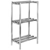 "Channel DR2436-3 36"" x 24"" x 64"" Three Shelf Aluminum Dunnage Shelving Unit - 2500 lb. Capacity"