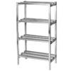 Channel DR2448-4 48 x 24 x 64 Four Shelf Aluminum Dunnage Shelving Unit - 2500 lb. Capacity