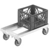 "Channel MC1326 13"" x 13"" Milk Crate Dolly - 2 Stack Capacity"