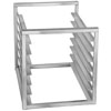 "Channel RIR-7S 7 Pan Stainless Steel End Load 20 1/2"" x 23"" x 23"" Sheet / Bun Pan Rack for Reach-Ins - Assembled"