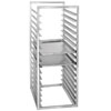 "Channel RIR-16S 16 Pan Stainless Steel End Load 20 1/2"" x 23"" x 51"" Sheet / Bun Pan Rack for Reach-Ins - Assembled"