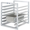 "Channel RIUTR-7 7 Pan End Load 20 1/2"" x 23"" x 23"" Pan Rack for Reach-Ins - Assembled"