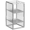 "Channel RIW-29S 29 Pan Stainless Steel End Load 25"" x 20 1/2"" x 51"" Sheet / Bun Pan Rack for Reach-Ins - Assembled"