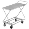 Channel STKG300H Chrome Plated Steel Stocking Truck with Tubular Bottom Shelf and Handle - 46