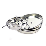 "Checkerboard Pan 10,"" Tinned Steel"