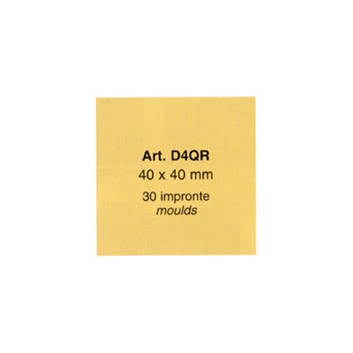 Chocolate Rubber Chablon, Square 40mm x 40mm, 30 on Sheet