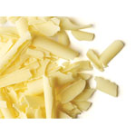 Curled White Chocolate Shavings, 5.5 lbs