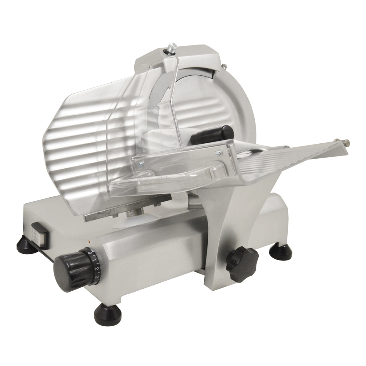 "Omcan 13607 8"" Belt Drive Slicer 110V, 0.20 HP, with Fixed Blade Sharpener"