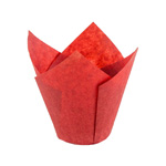 Novacart Red Tulip Disposable Baking Cup, 2-3/4
