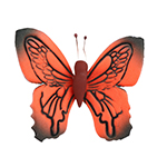 O'creme Gumpaste Butterfly, Red, Set of 12