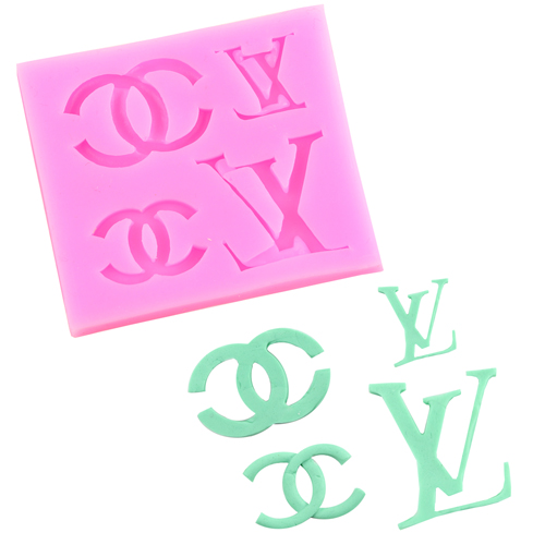 O'Creme Louis Vuitton & Chanel Logo Silicone Mold