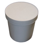 Plastic Jar with Lid for Taring a Baker's Scale