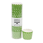 Simply Baked Green Dot Small Paper Baking Cup