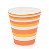 Welcome Home Brands Cafe Sweets Orange Stripe Baking Cup